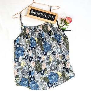 LOFT Floral Top Sleeveless Size L